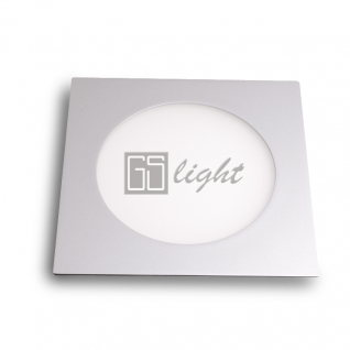 GSlight Светодиодная панель 180x180x12 (серый квадрат) 10W White