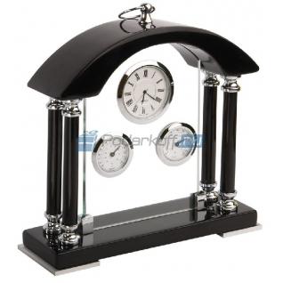 """Погодная станция """"Черный Бриллиант"""": часы, термометр, гигрометр"""