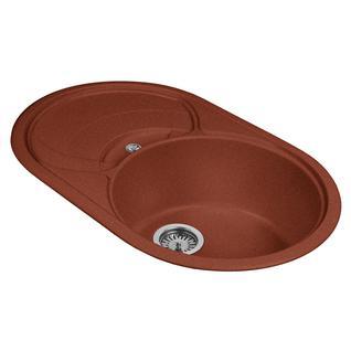 Мойка кухонная AquaGranitEx M-18S (334) красный марс