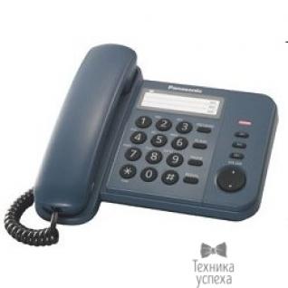 Panasonic Panasonic KX-TS2352RUC (синий) индикатор вызова,порт для доп. телеф. оборуд.,4 уровня громкости звонка