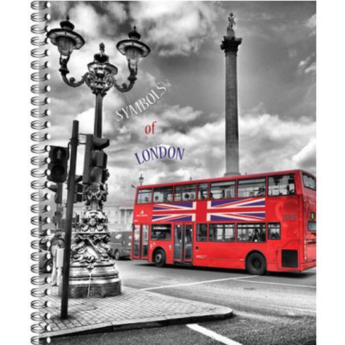 Тетрадь общая 80 л. кл. А4 формат London греб. арт. ТО80А49375 37874424 4