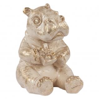 Статуэтка «Бегемот Анатоль с подарком» (скульптура)