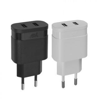 Зарядное устройство сетевое Rivapower VA 4123 BD1, 2USBx3,4A, черный
