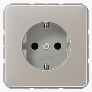 Розетка электрическая Jung CD1520PT SCHUKO 16A 250V~ с заземлением платина металл