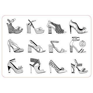 """Коврик-раскраска маленький """"Аксессуары для девочек. Обувь"""" размер 48х33,5 см ЯиГрушка"""