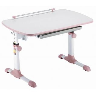 Бюрократ Стол детский Бюрократ CONDUCTOR-06/MILK&P столешница ЛДСП белый розовый ...