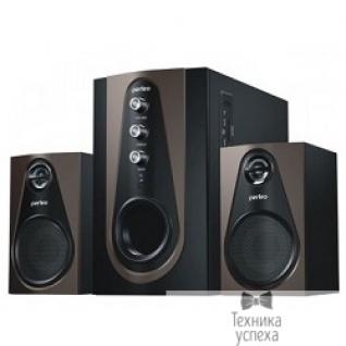 "Perfeo Perfeo ""Scenic"" PF-103-BT, чёрно-коричневый BLUETOOTH, FM-тюнер, USB/SD, ПДУ, 20Вт+5х2Вт"
