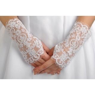 Перчатки свадебные №117, белый (короткие)
