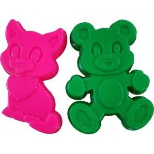 Формочки (котенок + медведь) Полесье