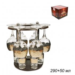 БАР набор для напитков 12 предметов Искушение Греция / 411/22 ГН /уп1/ 6 фужеров+6 стопок