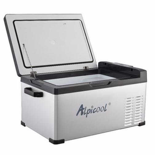 Kомпрессорный автохолодильник ALPICOOL C25 черный (30л, 12/24/220В) 36995006