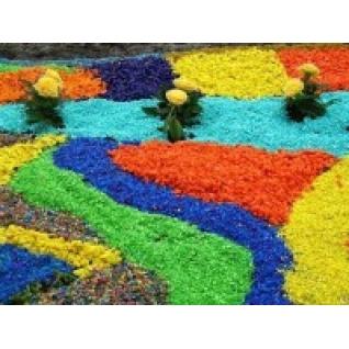 Цветной мраморный щебень