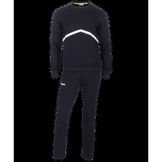 Тренировочный костюм детский Jögel Jcs-4201-061, хлопок, черный/белый размер YM