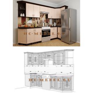 Кухня БЕЛАРУСЬ-7.3 модульная угловая, правая, левая
