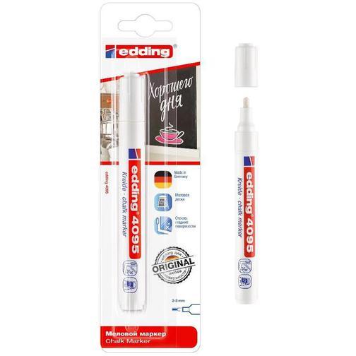 Маркер меловой Edding E-4095/049 chalk marker белый рус/бл. 37857538 2