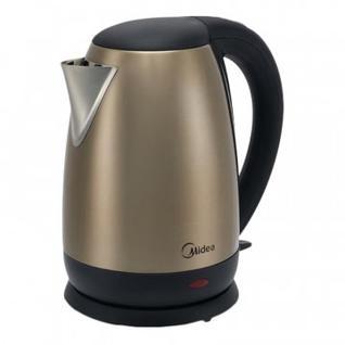 Чайник Midea МК-8042, 1.7 л, 1850-2200 Вт, бронза, нерж. сталь