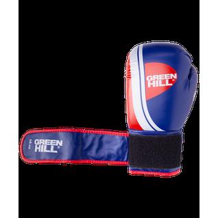 Перчатки боксерские Green Hill Knockout Bgk-2266, 12 Oz, к/з, синий