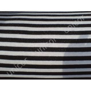 Трикотажное полотно тельняшка черная (Флот).