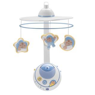 CHICCO Подвеска мобиль для кровати Волшебные звезды голубая, с д.у, 0м арт.24292