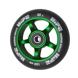 Колесо Hipe 5spoke 100 мм зеленый/черный