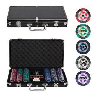 Набор для покера Partida Black Stars на 300 фишек