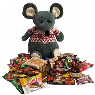 Новогодний сладкий подарок Перчинка игрушка 1000гр 33х18х18 см 9489 МосУпак