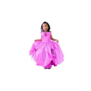 Розовое платье принцессы, с цветами, 4-6 лет Snowmen