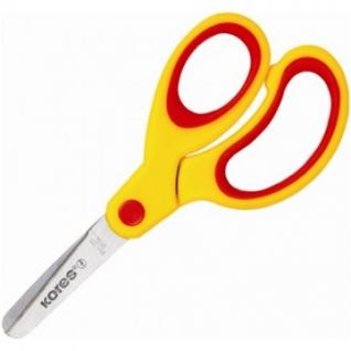 Ножницы детские Kores Softgrip 13 см с пласт. прорезин. ассимитр. ручками