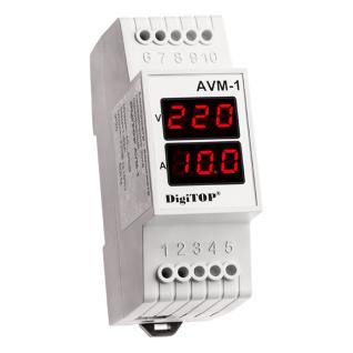 Амперметр-вольтметр DigiTOP AVM-1 (крепление на DIN рейку)