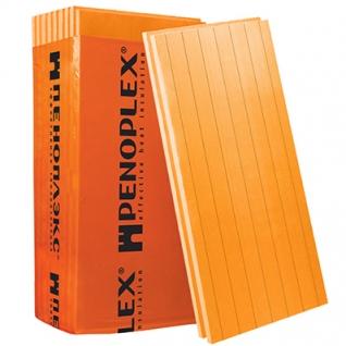 ПЕНОПЛЕКС Стена 1185х585х50мм XPS (8шт=5,55м2=0,277м3) / ПЕНОПЛЭКС Стена экструдированный пенополистирол 1185х585х50мм (упак. 8шт=5,55м2=0,277м3) Пеноплекс