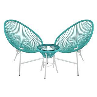 Комплект садовой мебели ПМ: ЭкоДизайн AC002+AC001 Комплект кофейный ACAPULCO (стол, арт. AC002 и 2 кресла, арт. AC001)