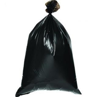 Мешки для мусора ПВД 120л 68х110см 35мкм черные 20шт/рул Комус