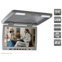 """Потолочный автомобильный монитор 15,6"""" со встроенным медиаплеером AVIS Electronics AVS115 (серый) Avis"""