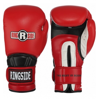 Ringside Перчатки тренировочные RINGSIDE HOOK&LOOP RPEN красные, 14 унций
