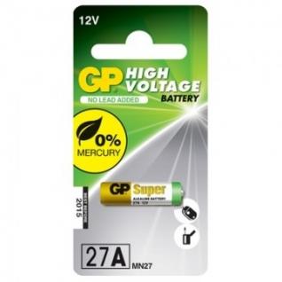 Батарейки GP 27A, 12V, алкалин., бл/1шт