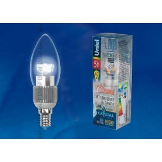 Uniel LED-C37P-5W/NW/E14/CL/DIM ALC03SL пластик