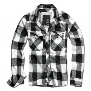 Brandit Рубашка Brandit в клетку, цвет черно-белый