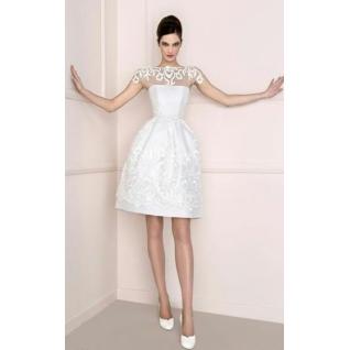 Платье свадебное  Короткие свадебные платья⇨Белый Тюльпан