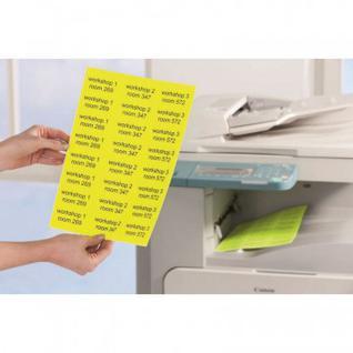 Этикетки самоклеящиеся Неоновые L6004-25 желтые, 63.5х 29.6мм, 675шт/уп
