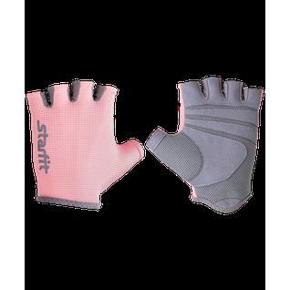 Перчатки для фитнеса Starfit Su-127, розовый/серый размер S