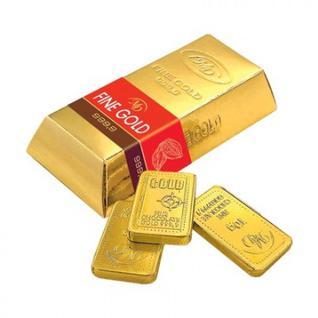 Набор из шоколада Слитки Золотой Стандарт 60г/10ШТ 60% какао 0189