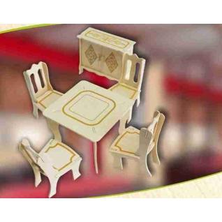 """Сборная деревянная модель """"Мебель для кукол """"Гостиная"""", 29 деталей Wooden Toys"""