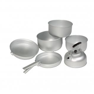 Mil-Tec Набор кухонной посуды Hiking, алюминиевый