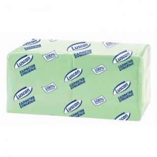 Салфетки бумажные Luscan Profi Pack 1сл24х24пастель салатовые 400 шт/уп