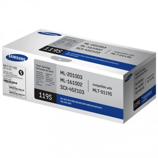 Картридж MLT-D119S для Samsung ML-1610, ML-1615, ML-1620, ML-1625, ML-2010, ML-2015, ML-2020, ML-2510, ML-2570, ML-2571, SCX-4321, SCX-4521 (черный, 2000 стр.) 4436-01 851893 1