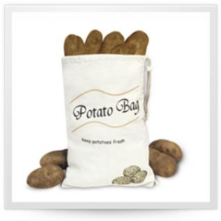 Хранение продуктов, овощей. Мешочки для овощей. Обработка продуктов. Potter Ind. Ltd. Мешочек для хранения картофеля Potato bag NMKC035/CV