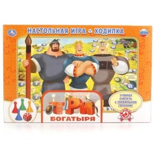 """Настольная Игра-Ходилка """"Умка"""" Три Богатыря В Русс."""