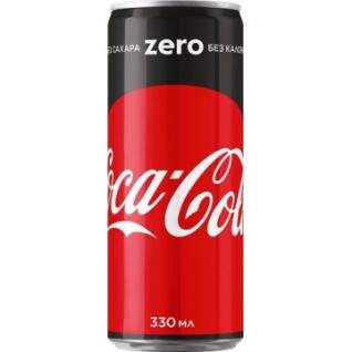 Напиток Coca-Cola Zero газированная, 0,33 л.