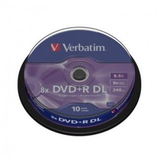 Носители информации Verbatim DVD+R 8,5Gb 8х Cake/10 43666 Dual Layer