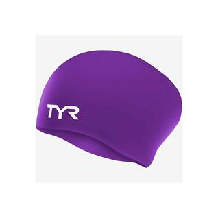Шапочка для плавания Tyr Long Hair Wrinkle-free Silicone Cap, силикон, Lcsl/510, фиолетовый